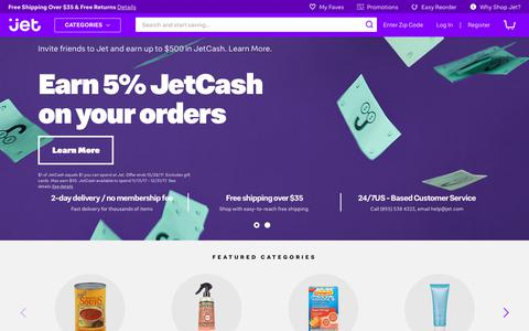 Screenshot of Home Page jet.com - Jet.com | Prices Drop As You Shop - captured Oct. 23, 2017