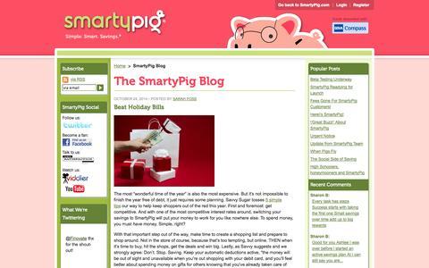 Screenshot of Blog smartypig.com - SmartyPig®: Blog - captured Oct. 26, 2014