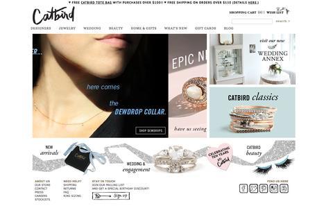 Screenshot of Home Page catbirdnyc.com - Catbird::designers - captured Sept. 3, 2015