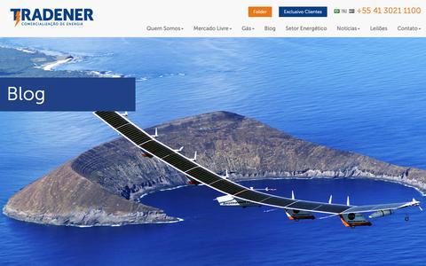 Screenshot of Blog tradener.com.br - Mercado livre de energia - Blog - captured Oct. 19, 2018