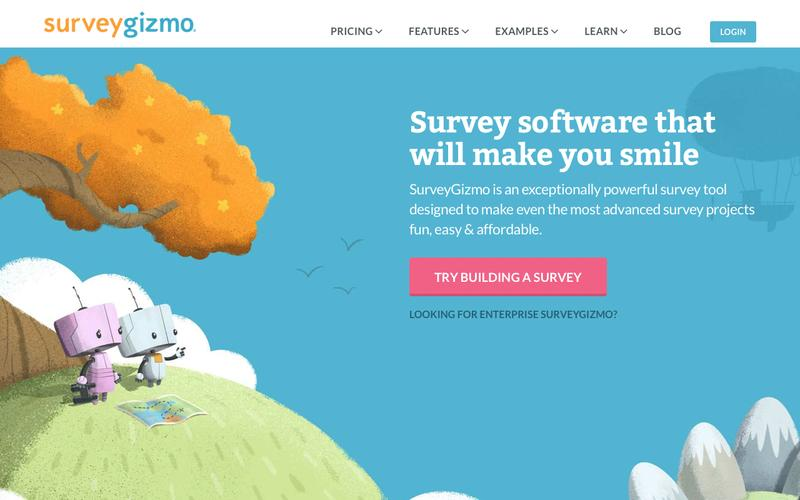 Screenshot SurveyGizmo | Professional Online Survey Software & Form Builder