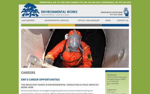 Screenshot of Jobs Page environmentalworks.com - Careers | Environmental Works - captured Nov. 9, 2016