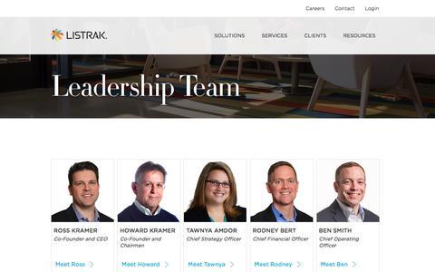 Leadership Team   Listrak
