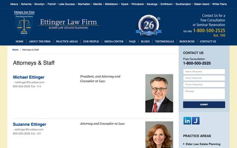 Screenshot of Team Page trustlaw.com - Attorneys & Staff :: New York Probate Attorney Ettinger Law Firm - captured Aug. 29, 2017