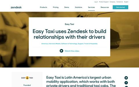 Screenshot of Support Page zendesk.com - Easy Taxi Customer Service Story | Zendesk - captured Aug. 5, 2018