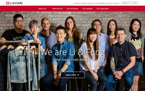 Screenshot of Home Page lifung.com - Li & Fung Limited | Global Supply Chain Managers - captured Feb. 21, 2016