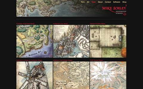 Screenshot of Maps & Directions Page mikeschley.com - Mike Schley   Illustration and Cartography - captured Oct. 7, 2014