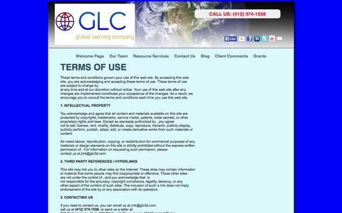 Screenshot of Terms Page glc3d.com - Grants Strategy and How To Apply For A Grant - captured Oct. 2, 2014