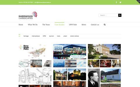 Screenshot of Case Studies Page sherwoodassociates.ie - Case Studies – Tourism Development & Consultancy - captured Nov. 7, 2018