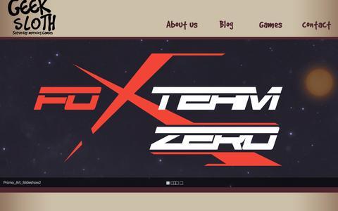 Screenshot of Home Page geekslothgames.com - Geek Sloth Games - captured July 20, 2015