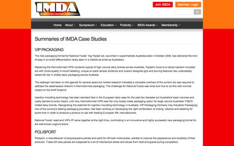 Screenshot of Case Studies Page imdassociation.com - Case Studies › IMDA - captured March 2, 2016