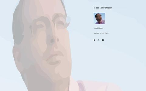 Screenshot of Home Page petermadern.nl - Peter Madern - captured Oct. 2, 2014