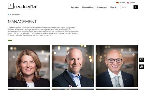 Screenshot of Team Page neudoerfler.com - Management   neudoerfler - captured Sept. 20, 2018