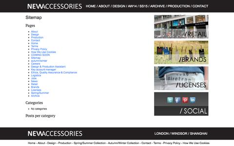Screenshot of Site Map Page newaccessories-group.com - Sitemap - new accessories - captured Oct. 7, 2014