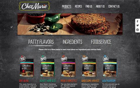Screenshot of Products Page chezmarie.com - Patty Flavors - Chez Marie - captured Oct. 2, 2014