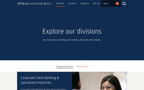 Divisions | Job & Internships | JPMorgan Chase & Co.
