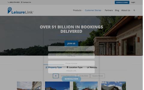 Screenshot of Case Studies Page leisurelink.com - Channel Management Solutions For Property Managers | LeisureLink - captured July 4, 2016