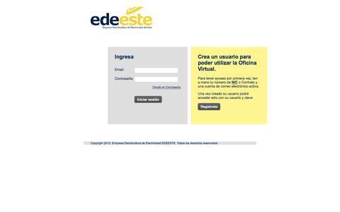 Screenshot of Login Page edeeste.com.do - Login - captured July 11, 2016