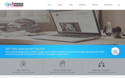 Screenshot of Home Page ewtnet.us - Dynamic Web Design, Development, IT & Oxwall Premium Solutions | EWT Global Solutions - captured Sept. 24, 2014