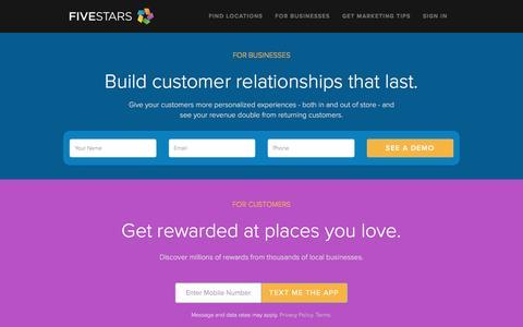 FiveStars | Customer Loyalty Programs
