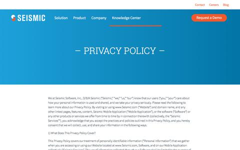 Seismic Privacy Policy | Seismic Sales Enablement Platform