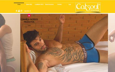 Screenshot of Home Page soulunderwear.com.br - Soul Underwear - captured Jan. 23, 2015