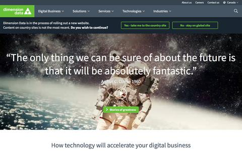 Home Page | Dimension Data