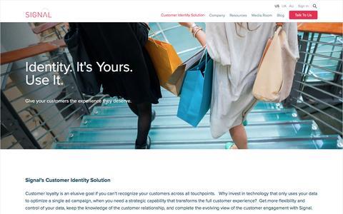Customer Identity Solution - Signal
