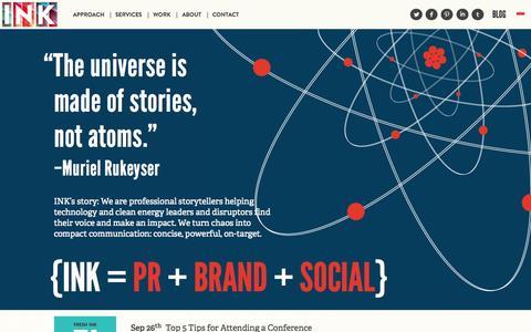 Screenshot of Locations Page ink-pr.com - INK: PR + BRAND + SOCIAL - Tech PR Firm Austin - captured Oct. 3, 2014
