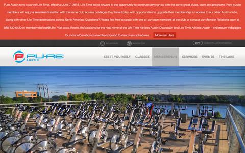 Screenshot of FAQ Page pureaustin.com - Memberships - Pure Austin Fitness - captured Sept. 22, 2018