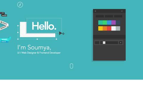 Screenshot of Home Page soumyabishi.co - Soumya Ranjan Bishi | UI / Web Designer & Frontend Developer - captured Sept. 23, 2014