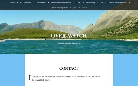Screenshot of Contact Page over-watch.co.uk - Contact | Over-watch - captured Dec. 2, 2016