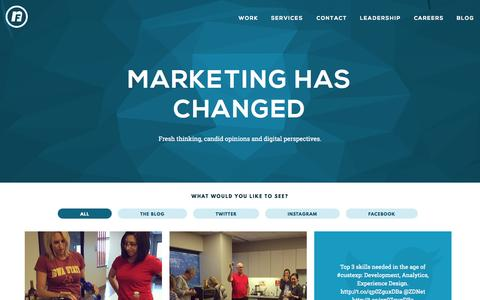 Screenshot of Blog nfusion.com - Marketing Has Changed Blog - nFusion - A Modern Marketing Agency - captured Sept. 13, 2015