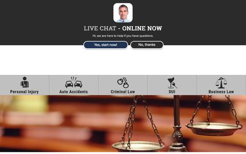 Screenshot of Contact Page kalraylaw.com - Contact | Kalray Law | www.kalraylaw.com - captured Nov. 15, 2018