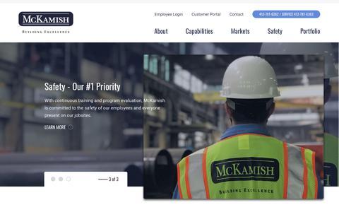 Screenshot of Home Page mckamish.com - Home | McKamish - captured Nov. 15, 2018