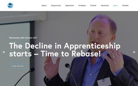 Screenshot of Press Page 3aaa.co.uk - News - 3aaa Apprenticeships - captured Oct. 27, 2017