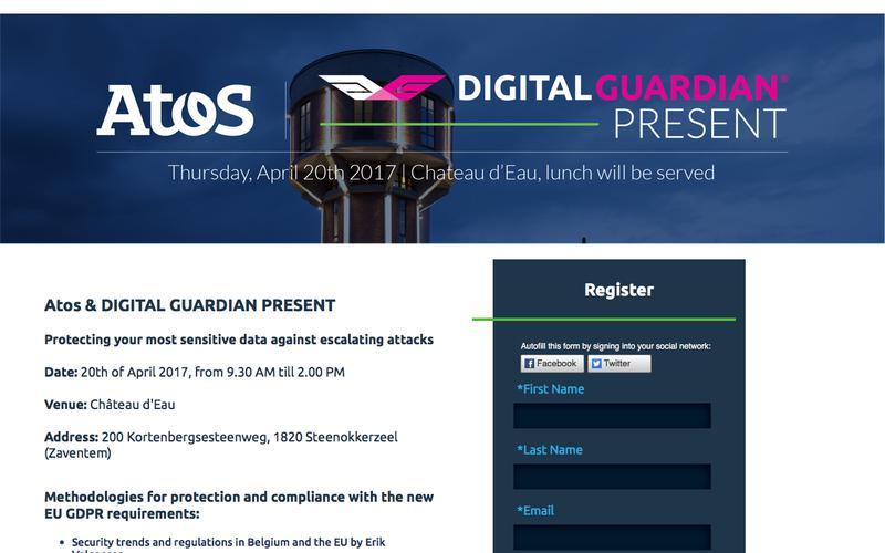 Atos & Digital Guardian Executive Briefing Belgium