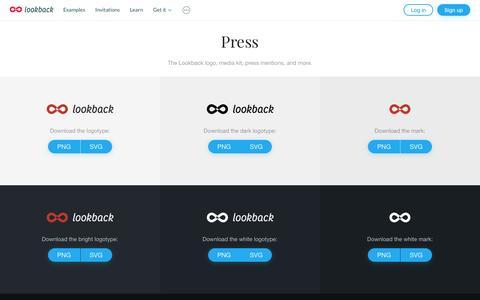 Screenshot of Press Page lookback.io - Press   Lookback - captured July 4, 2016