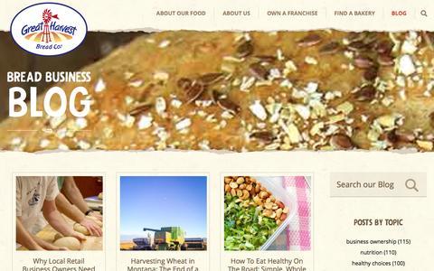 Screenshot of Blog greatharvest.com - The Bread Business Blog - captured Sept. 25, 2014