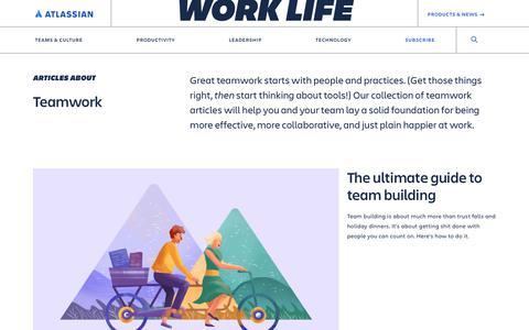 Screenshot of Blog atlassian.com - Teamwork, collaboration, and culture –Work Life by Atlassian - captured Feb. 8, 2020