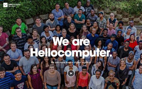 Screenshot of Home Page hellocomputer.com - Home - Hellocomputer - captured July 18, 2018