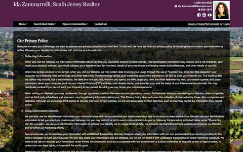 Screenshot of Privacy Page southjerseyhometeam.com - Privacy Policy - captured Oct. 6, 2014