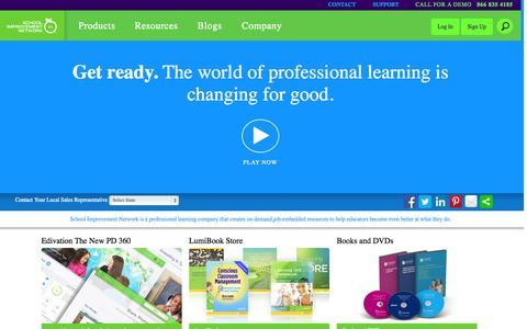 Screenshot of Signup Page schoolimprovement.com - Sign Up | School Improvement Network - captured Oct. 4, 2014