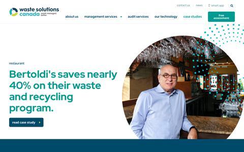 Screenshot of Case Studies Page wastecanada.com - Case Studies Archive - Waste Solutions Canada - captured Oct. 27, 2019