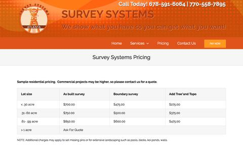 Screenshot of Pricing Page surveysystemsatlanta.com - Pricing – Surveys System Atlanta - captured May 11, 2017