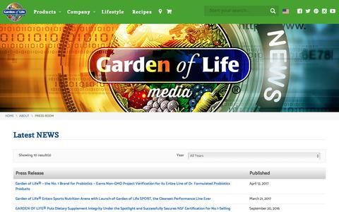 Latest News, Media and Press Releases | Garden of Life®