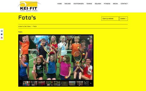 Screenshot of Press Page kei-fit.nl - Foto's - KEI-FIT | Tennis, Squash en Fitness - captured Oct. 6, 2014
