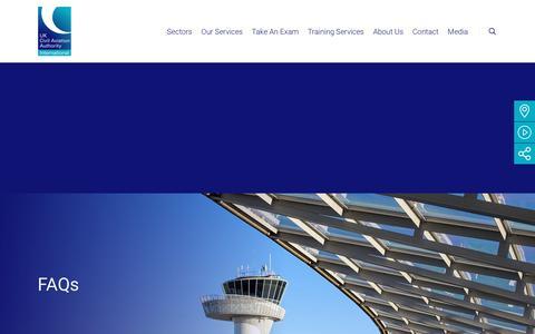 Screenshot of FAQ Page caainternational.com - FAQs - CAA International (CAAi) - captured July 14, 2018
