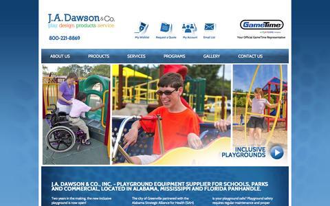 Screenshot of Home Page Privacy Page jadawsonco.com - J.A. Dawson & Company - captured Oct. 3, 2014