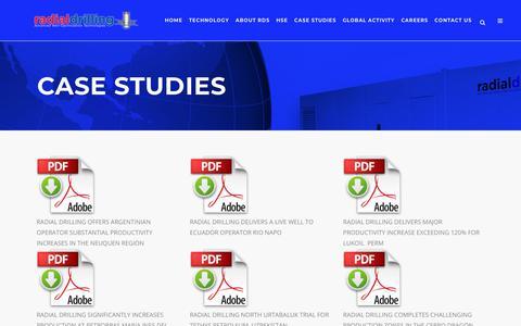 Screenshot of Case Studies Page radialdrilling.com - Radial Drilling Services, Inc. |   Case Studies - captured Oct. 19, 2018